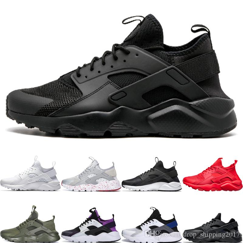 Huarache Run Ultra 4.0 1.0 Classic Men Women Running Shoes Triple Black White Red Rose Gold Sports Sneakers Runner size 36-45