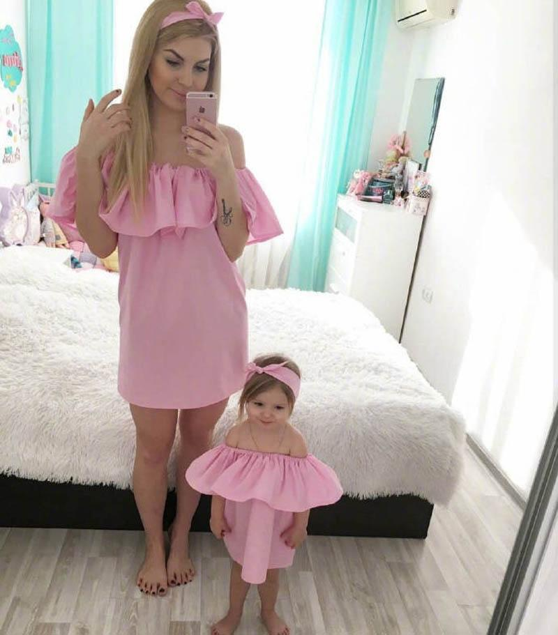 mommy and daughter matching outfits Mother and Daughter Clothes Mother and Daughter Dresses family matching outfits baby Girls Dresses A3223