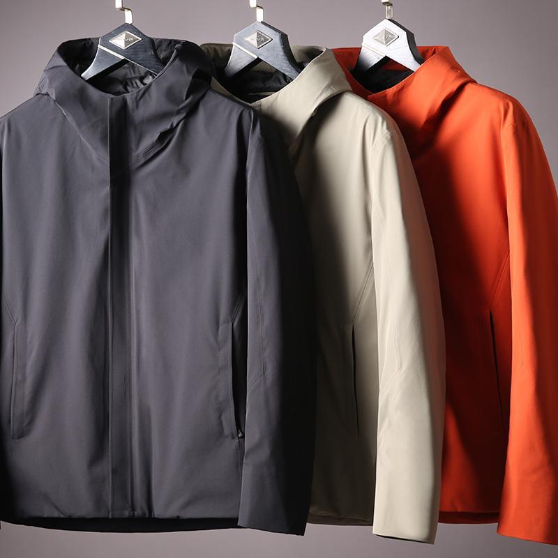 겨울 남자 다운 방수 부드러운 따뜻한 흰색 오리 방풍 JSBD 도시 야외 기능은 재킷 남성 후드 다운