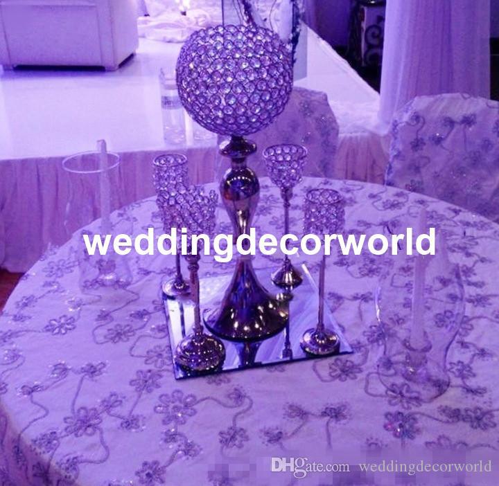 Новое событие и свадебные украшения центральные акриловые хрустальные канделябры с цветочной чашей для цветочной подставки свадебные украшения стола decor477