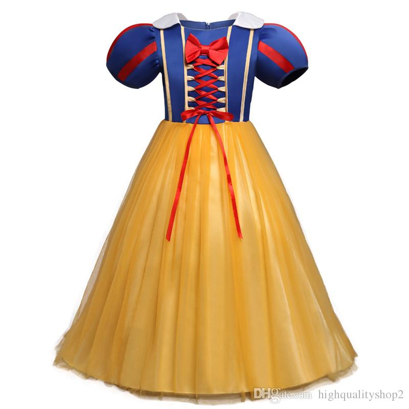 2019 هالوين ملابس للأطفال سنو وايت تأثيري فساتين بنات تنكر حزب الأميرة ملابس الرضع طفلة توتو اللباس