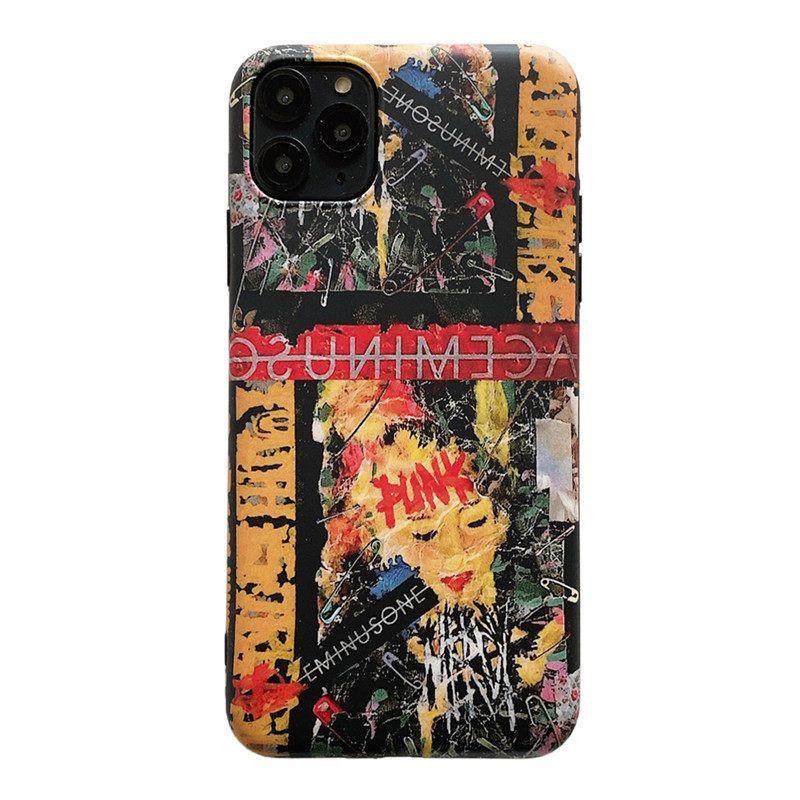 المد والجزر العلامة التجارية كتابات النفط اللوحة iphone11Pro حالة الهاتف المحمول لشركة آبل XS ماكس السيليكون لينة قذيفة 7 / زائد / XR