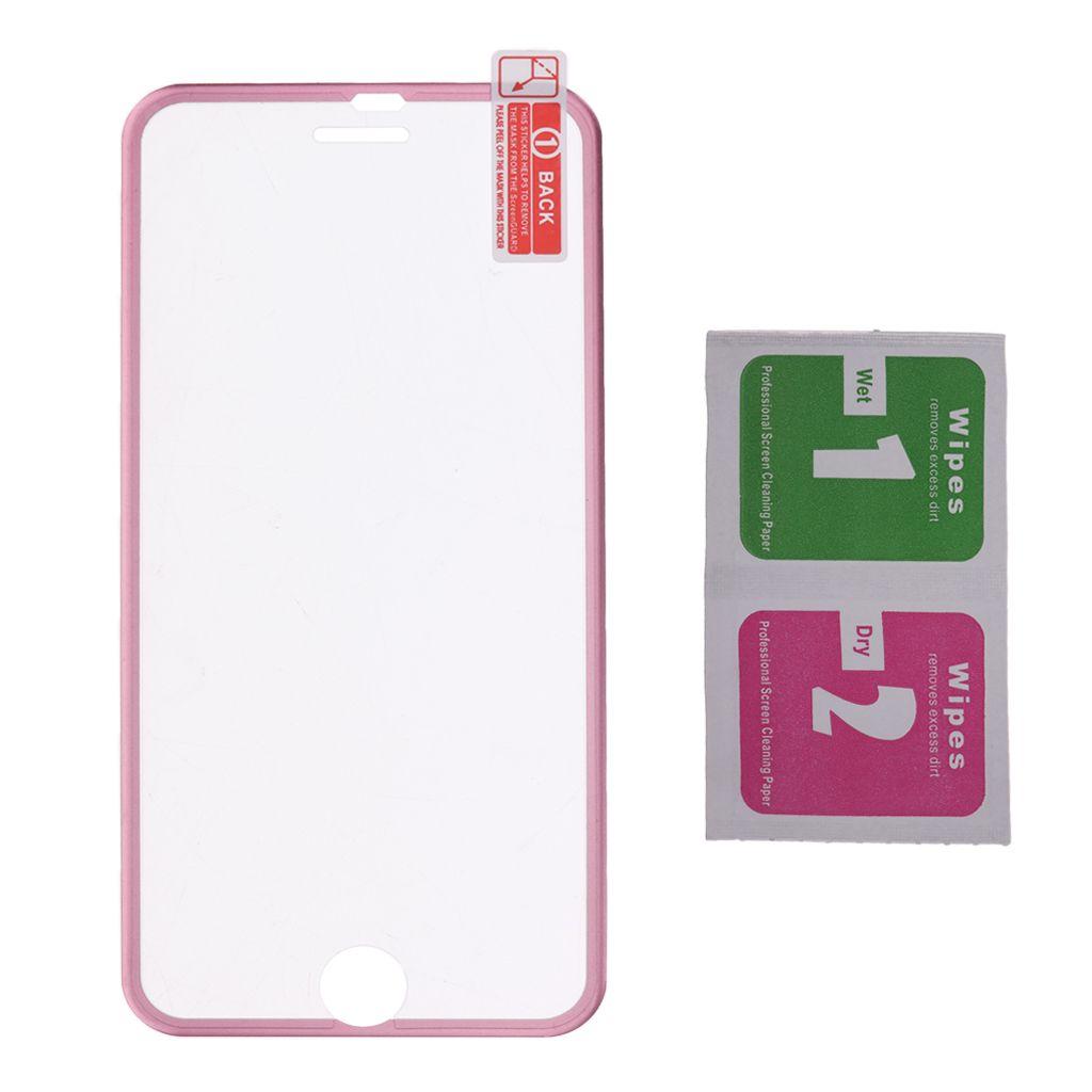 Protecteur d'écran haut de gamme en verre trempé Protection du film pour l'iPhone en or rose