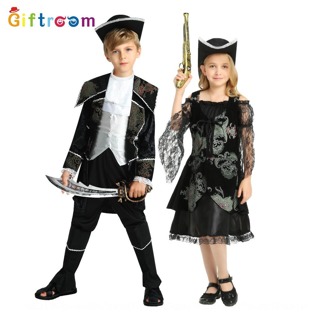 Halloween match props costume cosplay s Of The Caribbean children silver edge pirate clothing Prop pirate clothing costume