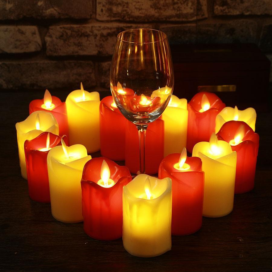 3pcs/lot LED Flameless Candle 5*7.5cm Plastic Simulated Flame LED Birthday Candle Lights Christmas Wedding Party Home Decoration