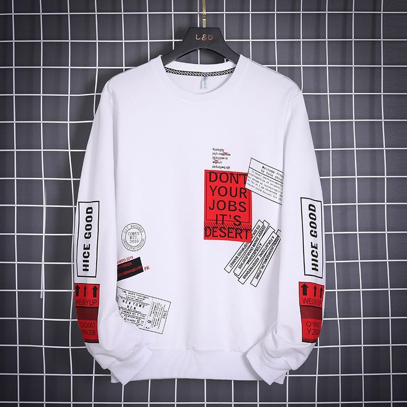 OLOME Hip Hop Hoodie Erkekler Moda Marka eskitmek 2020 Yeni Tasarım Erkek Streetwear Hoodies Sweatshirt Harajuku Üst Beyaz Kazak