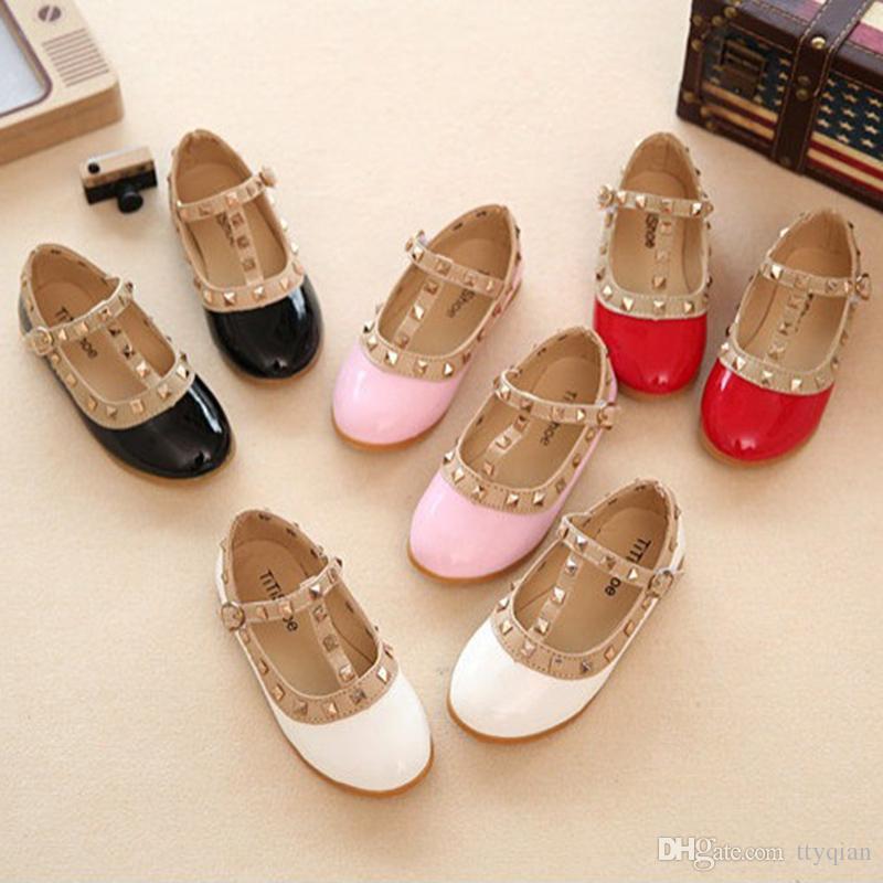 الفتيات اللباس أحذية أطفال برشام الجلود عارضة الأميرة اللباس أحذية للأطفال المراهقين بنات مدرسة حزب و أحذية الرقص الزفاف