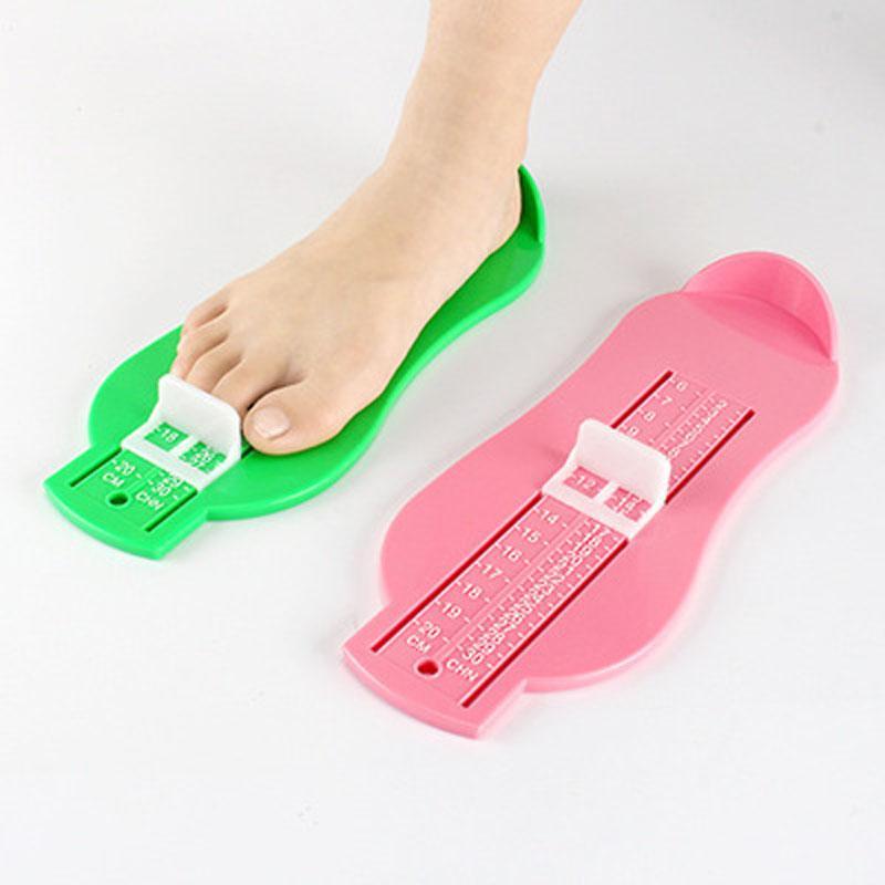 2019 do pé do bebê Shoe Size Medida Ferramenta Crianças Crianças Infant Shoes Dispositivo Régua Kit para miúdos Fittings calibre K0027