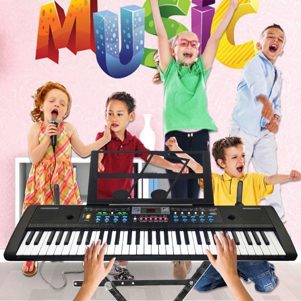 HOT-61 ключей цифровой электронная клавиатуры и микрофон Electric Led Music