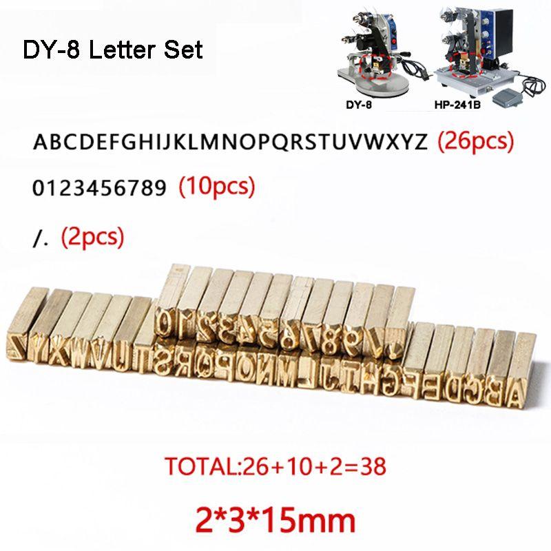 Letra do alfabeto de fontes de fita para impressora de calor Stamping Cabeça quente estampagem de peças de reposição de expiração Código Máquina de impressão Letter Set Número Set