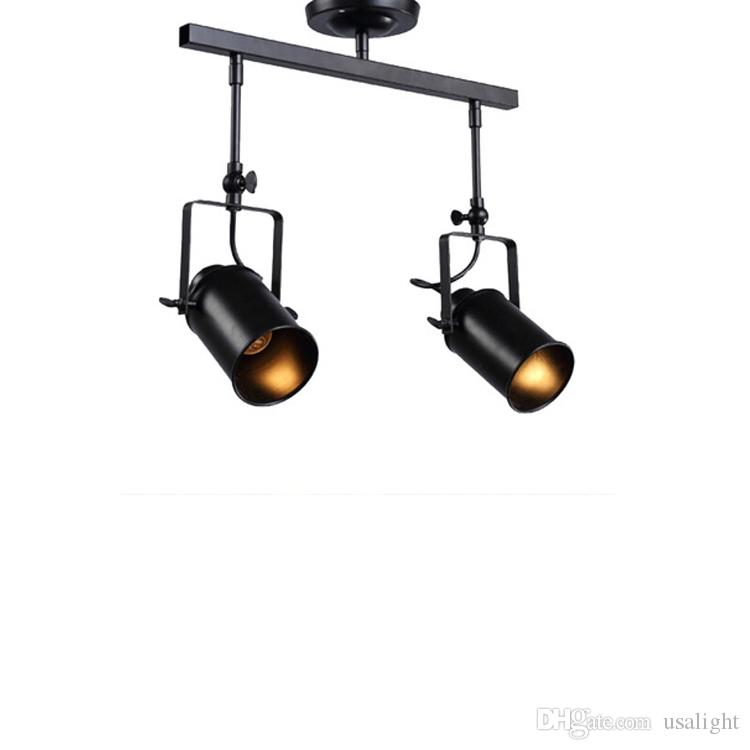 5W Tavan Işık, Endüstriyel Retro Tavan Spotlight Black Metal Parça Işık LED Tavan Spotlight, E27,4heads CRESTECH