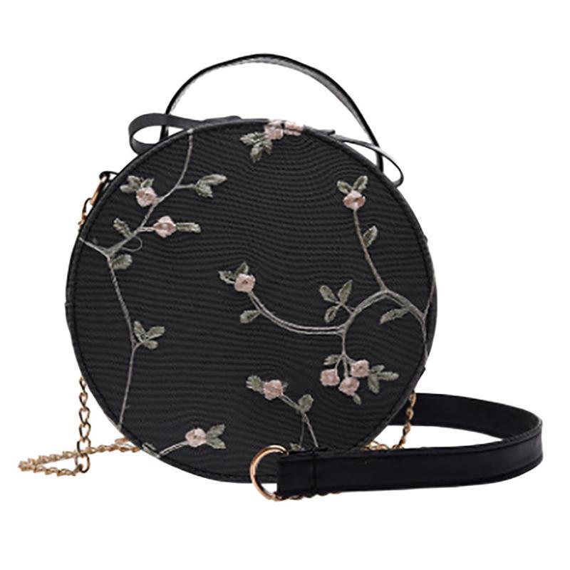 Сумка Горячая Круговая Дизайн Противоугонная посыльного сумки на ремне Женщины Круглый Болса Малый свежих цветов Сеть Телефон Пляж # LR1