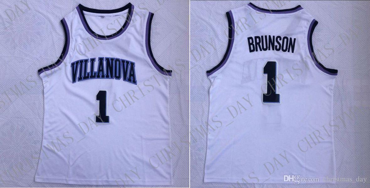 Дешевый изготовленный на заказ Джален Брансон #1 Вилланова Вилдкэтс колледж баскетбол Джерси мужчины прошитой настроить любое имя количество мужчин, женщин, молодежи Джерси