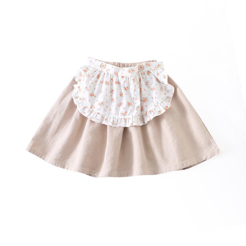 대신에 봄 새로운 아이들의 의류 한국어 스타일 모의 두 조각 앞치마 스커트 어린이 아기 소녀 스커트