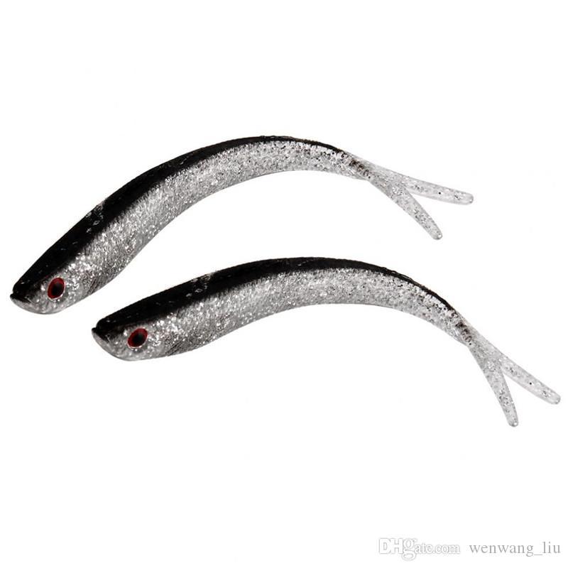 20pcs 10 centimetri 4g 3D Occhi Bionic Pesce silicone Pesca richiamo morbido adesca i richiami di pesca Tackle Accessori