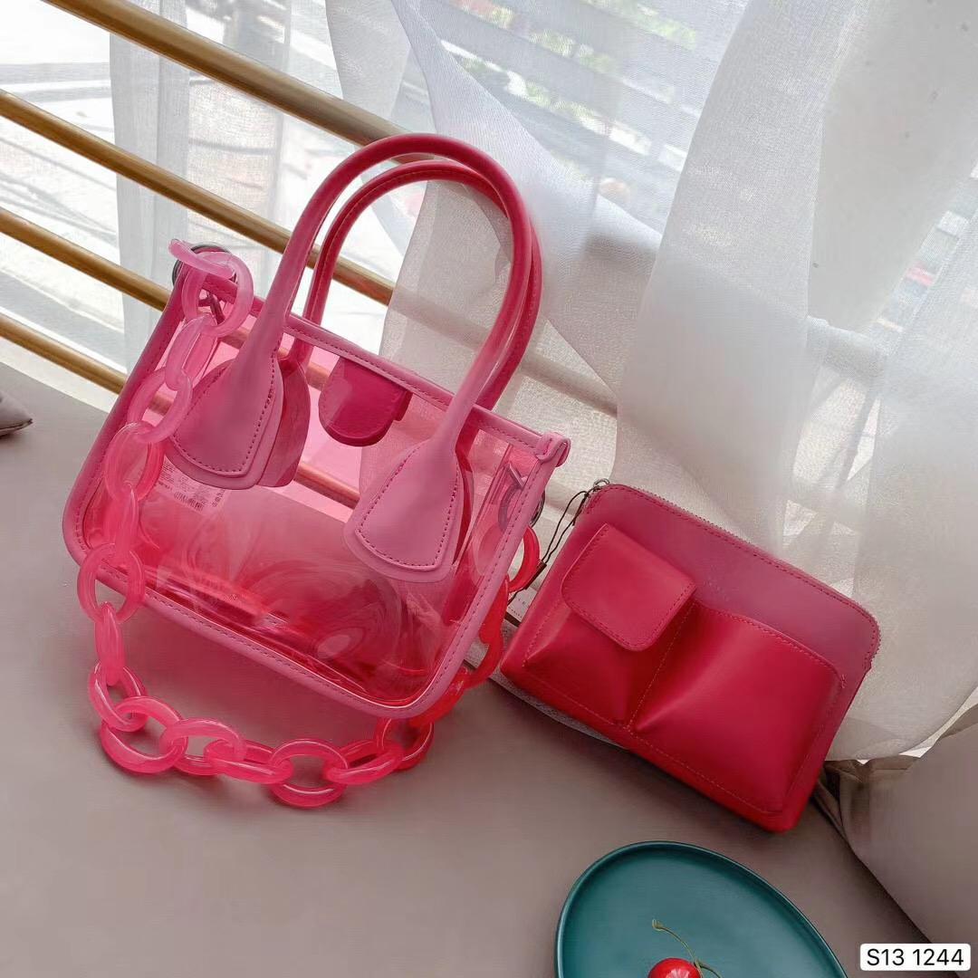 Moda nova doces translúcido bolsa de Senhoras, design fivela magnética cadeia de acrílico, saco interno é desejável # N400