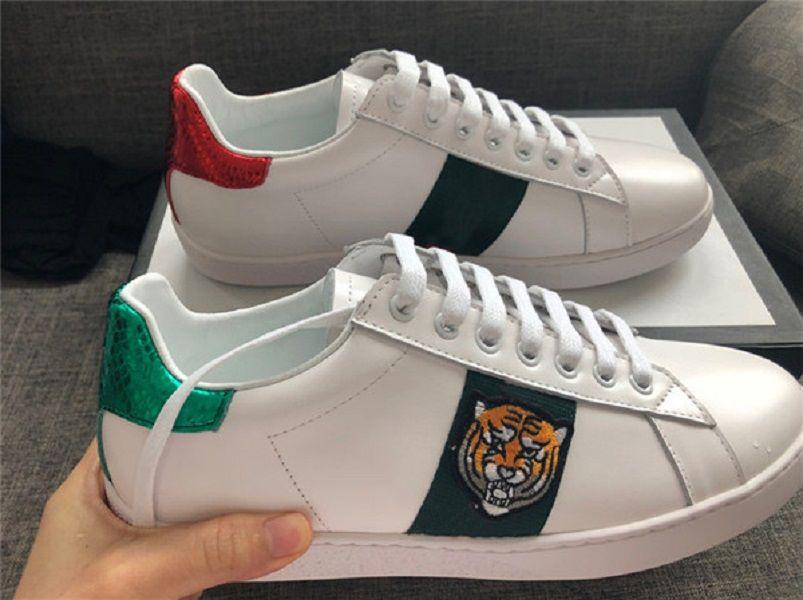 Italien 2018 New Personality Männer Frauen beiläufige Turnschuh-weißes Leder-Sneaker gehendes Kleid Schuhe mit Kasten