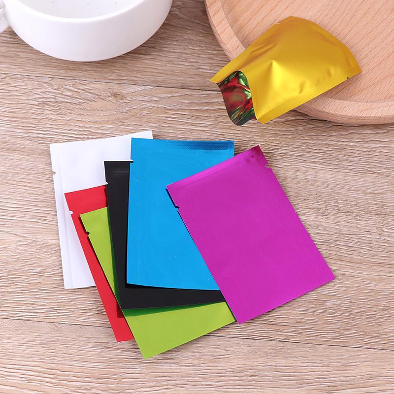 100шт Вакуумные Sealer Алюминиевая фольга Майларовые мешки для хранения сумки Для дома Кухонные инструменты смешивания цветов