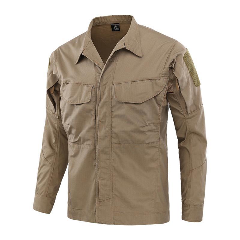 Camouflage Tactique Chemise Hommes Combat Uniforme Extérieur Camping Randonnée Escalade Camisas Mâle Formation Pêche Vêtements