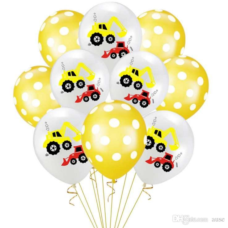 10 шт Шары наборы на день рождения партии украшения шары New Kids Подарочные товары верхнего качества Надувные воздушные шары перевозка груза падения