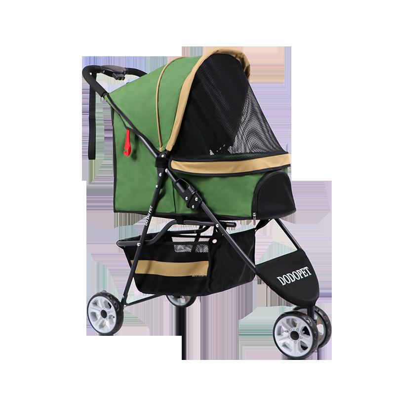 Pet Dog Cart Out of The Line Supplies Cats and Dogs Large Space Breathable Folding Four-wheeled Baby Teddy Short