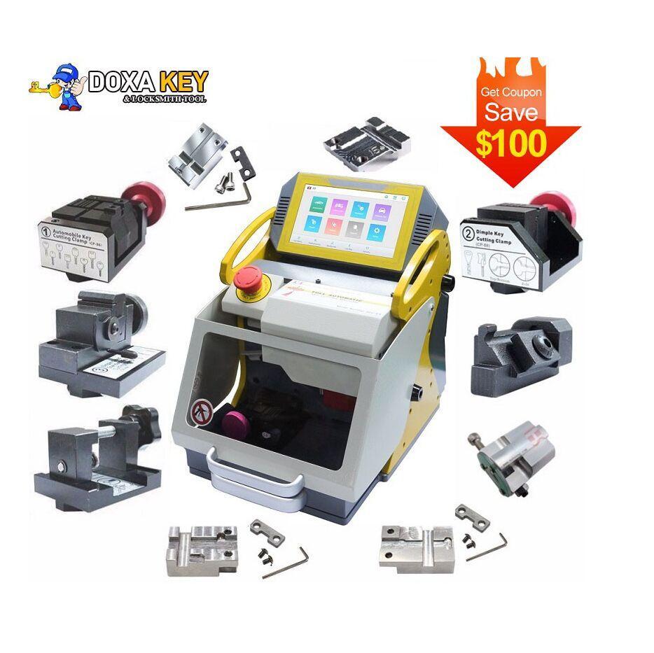 New DHL 2020 Newest SEC E9 12 Clamps CNC Automatic Key Cutting Machine For Car Keys & House Keys Better Than Slica I80 Key Machine