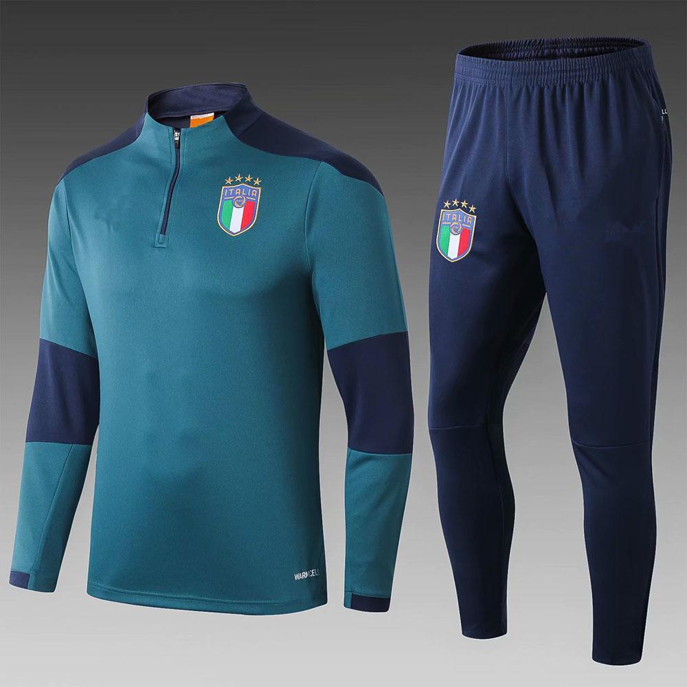 2019 2020 Survetement chándal Ceket takım İtalya futbol forması Uzun Kollu Eşofman Futbol gömlek Eğitim üst Üniformalar İtalyan Pantolon