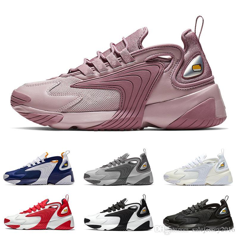 2019 Zoom 2K M2K Chaussures Designer Chaussures de course Blanc crème Hommes Femmes Violet Bleu Royal Oreo Chaussures de sport Chaussures de sport Taille 36-45