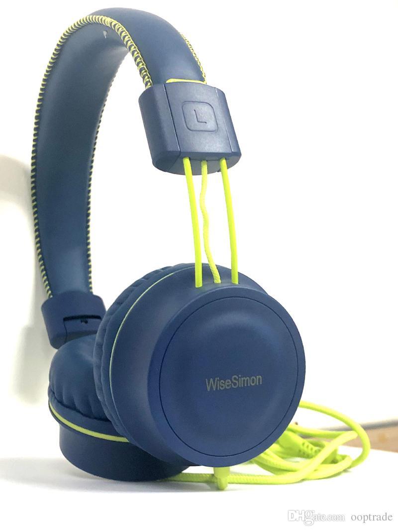 Casques pour enfants - Casque d'écoute supra-auriculaire filaire avec cordon de 3,5 mm avec câble stéréo pliable pour WiseSimon K11 pour enfants / adolescents / garçons / filles