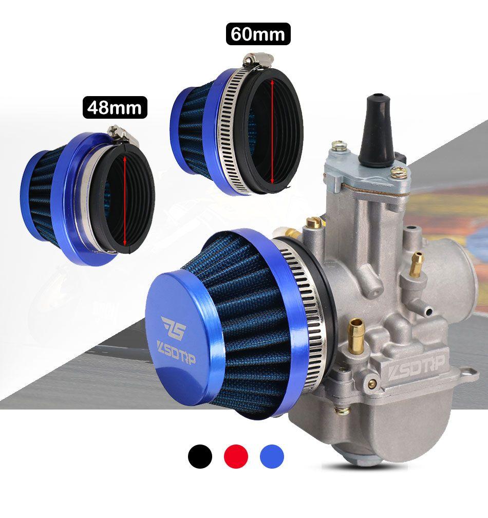 48 millimetri 60 millimetri filtro per moto un'aria più pulita in Dellorto SHA Carb carburatore 50cc 70cc 90cc 110cc ATV Dirt Bike ciclomotore