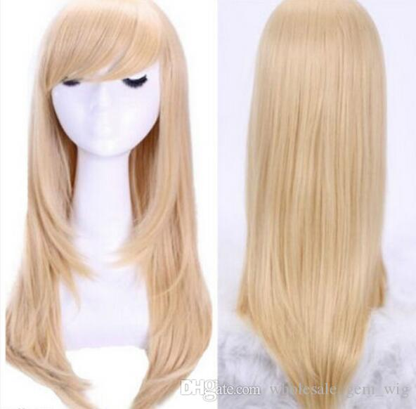 ENVÍO GRATIS ++ Sexy Long Fa shion Straight Costume Party Women Full Cosplay Wig