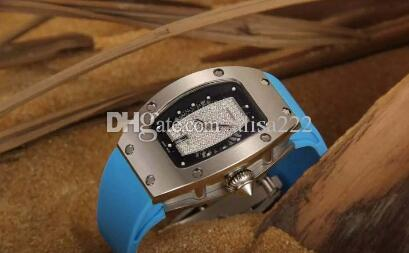Classic Lady Watch Diamond Stainless Wholesale Automatic Skeleton Date Woman Bracelet Rubber Band Womens Mechanical Wristwatches Girls.