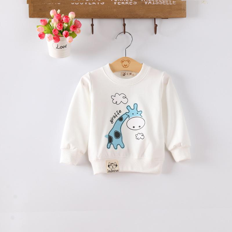 Felpe ragazzo neonate Fodere per neonati Fodere per bambini manica lunga Giallo Bianco modello giraffa freeshipping