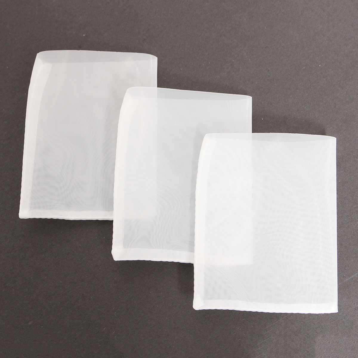 10pcs 90u micron Nylon Rosin Extraction Press Heat Filter Bags Filter Mesh Bags For heat press machine Nylon White 63.5 x 76mm