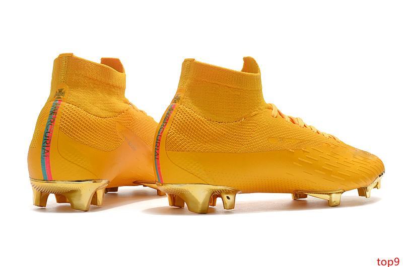 Top 2020 TOP original Mercurial Superfly Crampons VI 360 Elite Neymar FG Chaussures de soccer Cristiano Ronaldo Chaussures de football