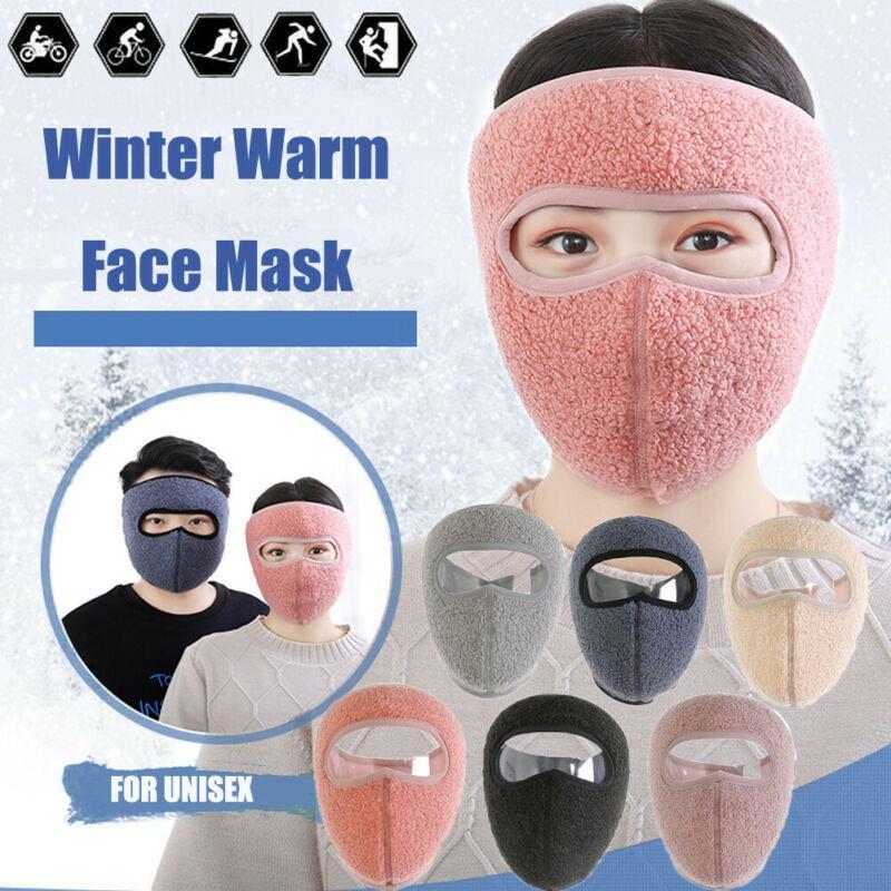Máscara caliente del invierno Fleece orejeras Montar la snowboard del esquí de la media cara Hombres Mujeres CA