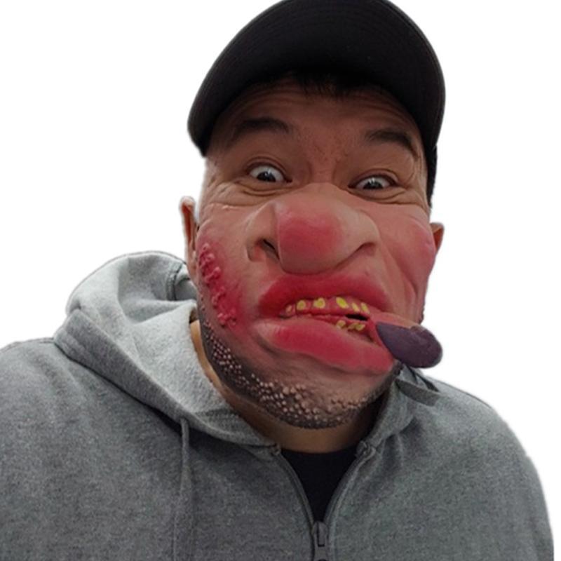 Adults Half Face Funny Mask Cosplay Halloween Party Joke Masks Masquerade