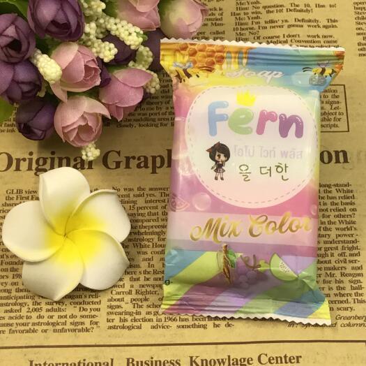 Fshion Noel Yeni Gelenler OMO Beyaz Artı Sabun Fruitamin Sabun Mix Renk Artı Beş ağartılmış Beyaz Cilt% 100 Gluta Gökkuşağı Sabun