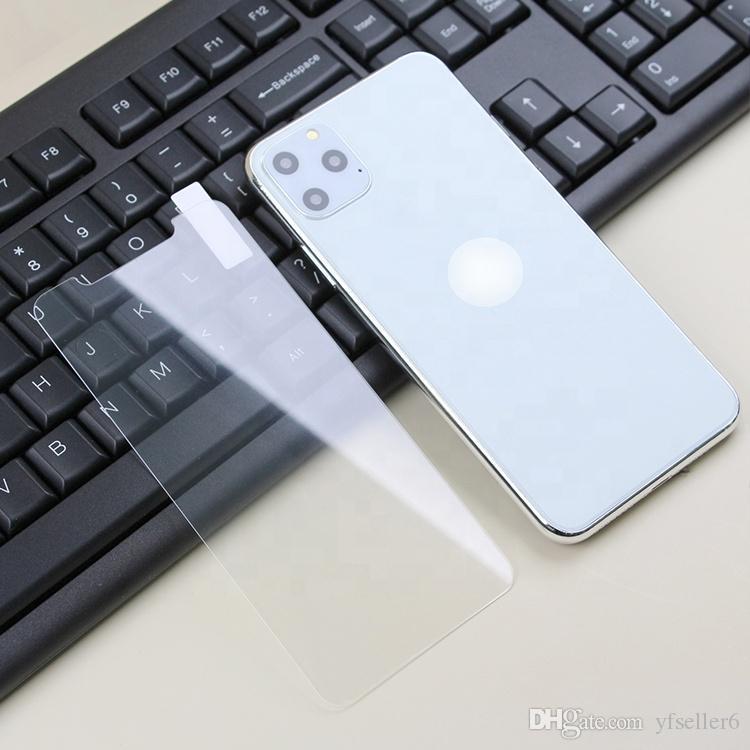 BAJA MOQ100PCS arriba claro arriba transparente anti arañazos pantalla de cristal templado del protector para el iPhone 11 PRO MAX