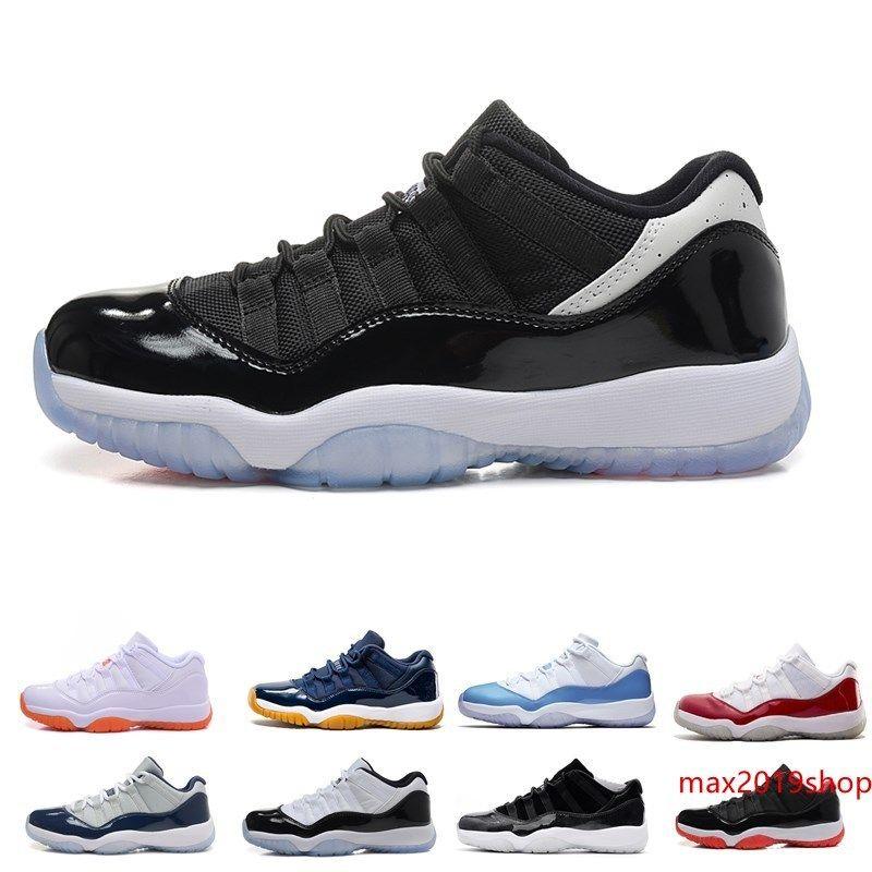 Номер 45 11 Пробелы обувь Джемы Баскетбол для размера Мужчины Женщины Gym Red 11s Спорт Кроссовки Полночь Navy 5.5-12
