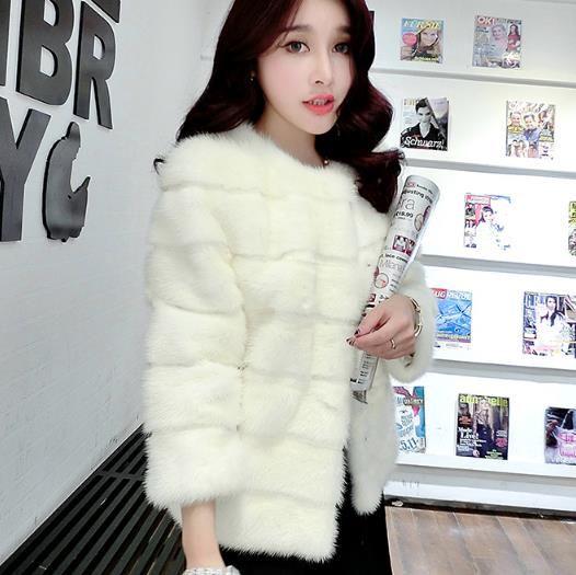 Fluffy hiver 2019 en fausse fourrure Manteau de fourrure artificielle femmes Pardessus Furry Jacket Femme Taille Plus chaud de faux Outwear Z232
