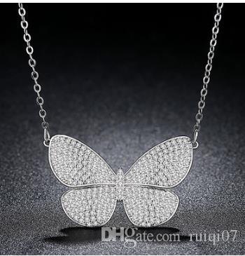Collana Jin Se Dance Yarn Coreano Nuova collana di farfalle Inlay in rame 3A Zircon Wild Fashion Clavicola Accessori per catene A215