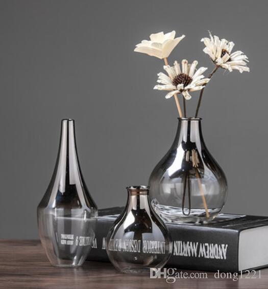 الاسكندنافية الحديثة تصفيح الزجاج الصغيرة المجففة زهرة زخرفة بسيطة غرفة المعيشة ديكور المنزل الإبداعية زهرة زهرة