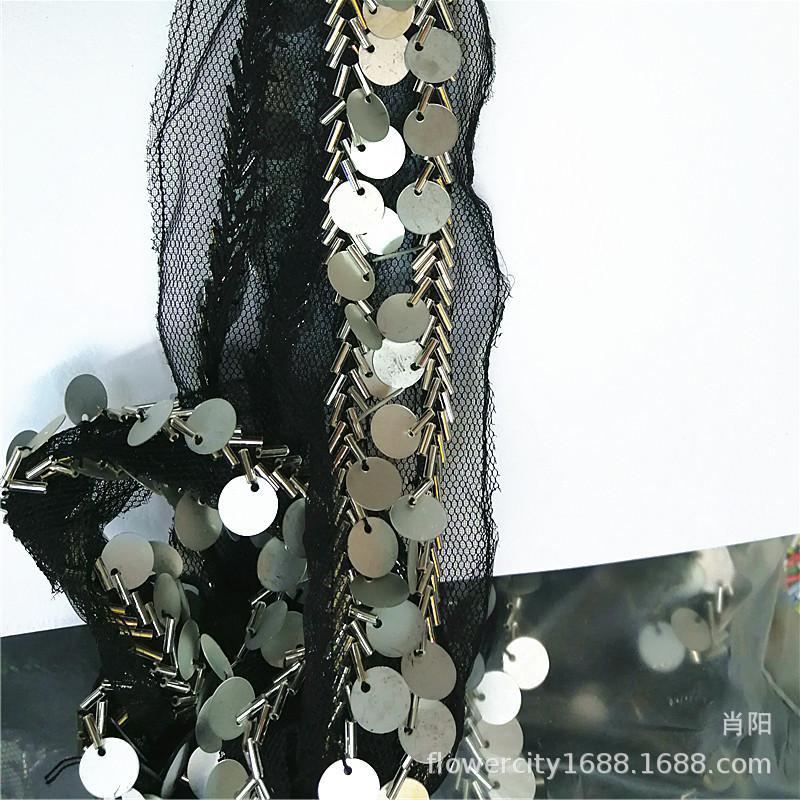 Tessitura perline nappa Bar Code fatti a mano perline paillettes catena nappe
