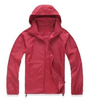 Rapida essiccazione informale all'aperto Sport impermeabile della pelle degli uomini delle donne di estate anti UV Windbreaker Giacche Cappotti Nero Bianco Plus Size 3XL