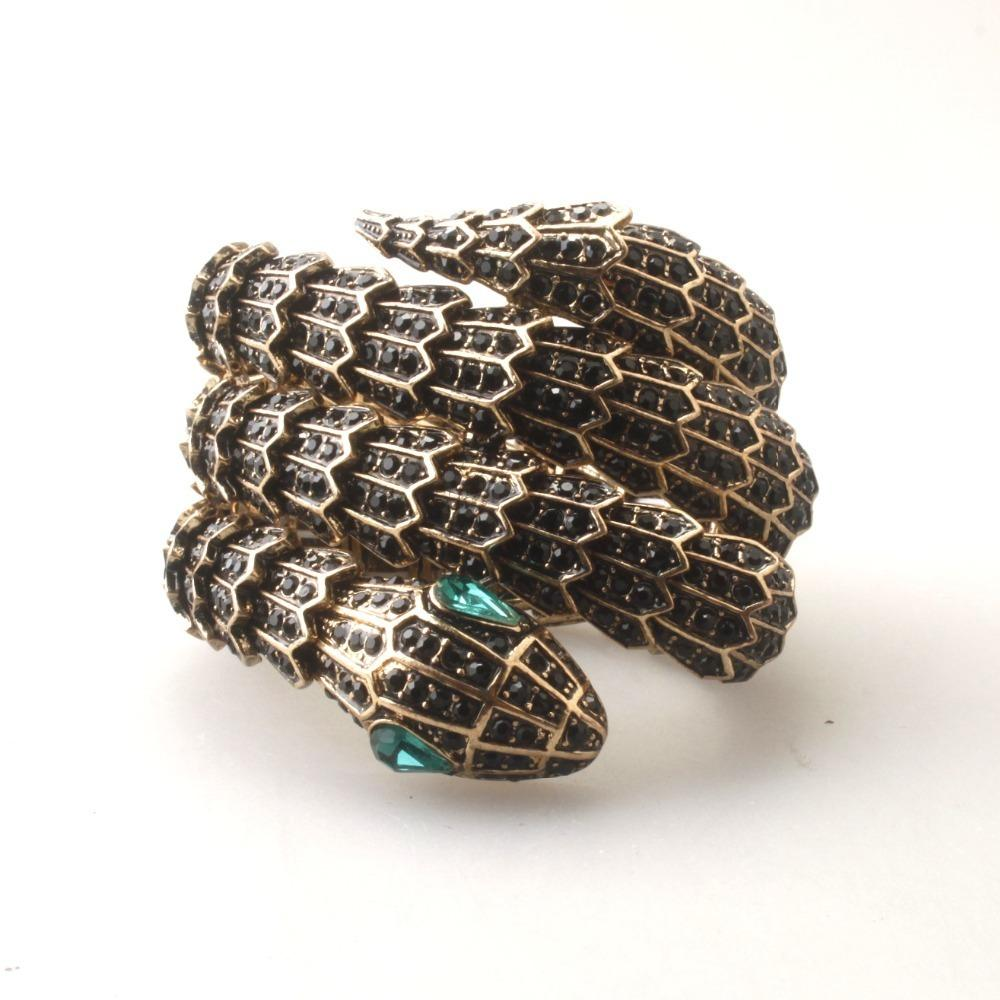 GrayBirds New Brand Animal Snake Bracelets Elastic Rope Antique Gold Color Length And Crystal Color Can Be Customized GB1098 C19010401