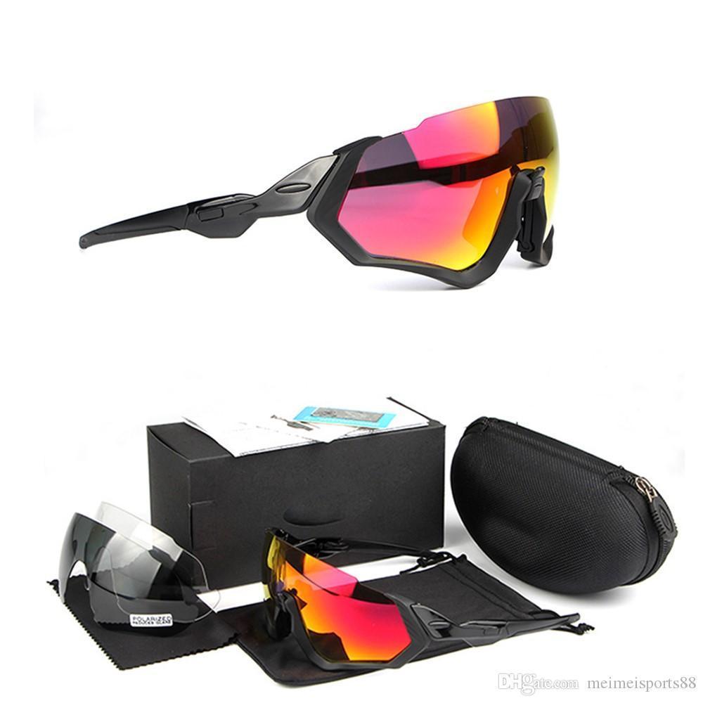Ceket Bisiklet Gözlük Erkekler Moda Polarize TR90 Güneş Açık Spor bisiklet güneş gözlüğü açık Gözlük 3 lens Koşu