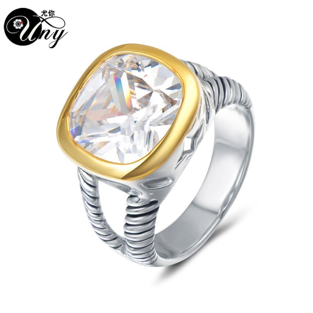 UNY anillo cable de pares trenzados anillos de alambre Diseñador Fshion antiguo anillo de las mujeres de Love Brand David vendimia de la joyería antiguos de la vendimia Anillos regalo