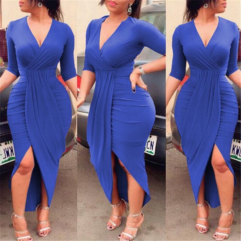 높은 품질 여성 섹시한 V 넥 그린 화이트 붕대 드레스 2,018 니트 우아한 디자이너 드레스