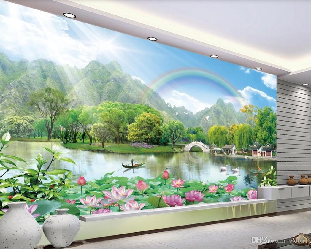 3d room wallpaper custom photo mural HD landscape painting landscape TV background wall wall art canvas pictures wallpaper for walls 3 d